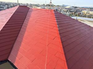 屋根上塗り8