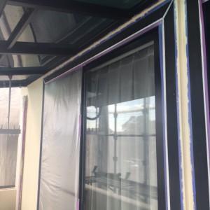 窓枠塗装2