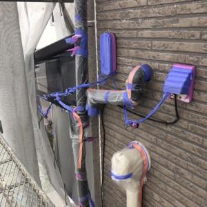 外壁中塗り(カラリアートベース9