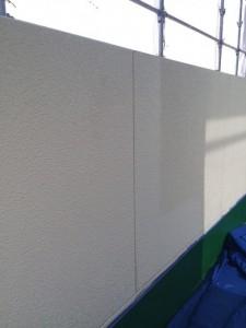 ベランダ外壁上塗り3