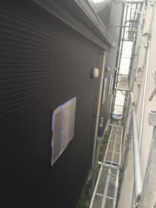 壁中塗り完了 釘頭 破風 横樋_3492