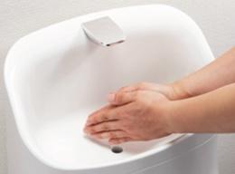 浜松市のトイレリフォーム商品紹介 LIXILアメージュZA 広くて深い手洗いボウルで、手洗いが快適に!