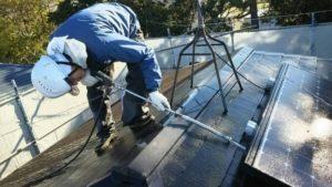 浜松市、屋根洗浄