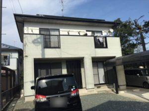 浜松市の外壁塗装リフォームの事例紹介|1階・2階を塗り分け、引き締まった外観に!