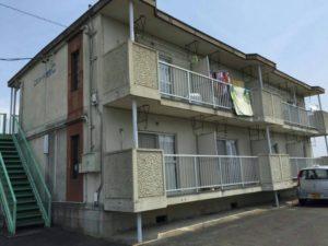 浜松市,外壁塗装,アパートサイド側写真