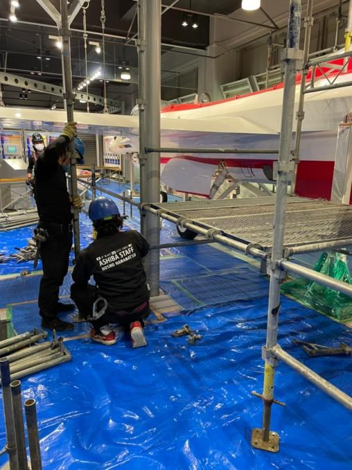航空自衛隊浜松広報館での模型の塗り替え2