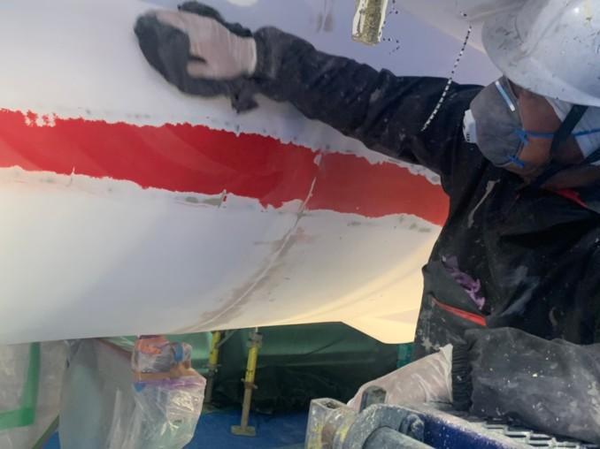航空自衛隊浜松広報館での模型の塗り替え4