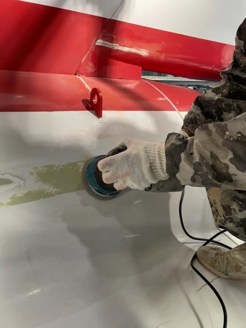 航空自衛隊浜松広報館での模型の塗り替え3