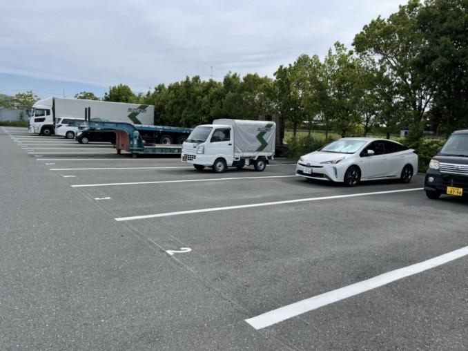浜松市北区 駐車場に白線塗装