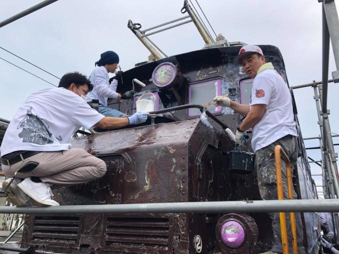 塗魂ペインターズ(ボランティア)として岳南鉄道の車両の塗り替えを行いました!