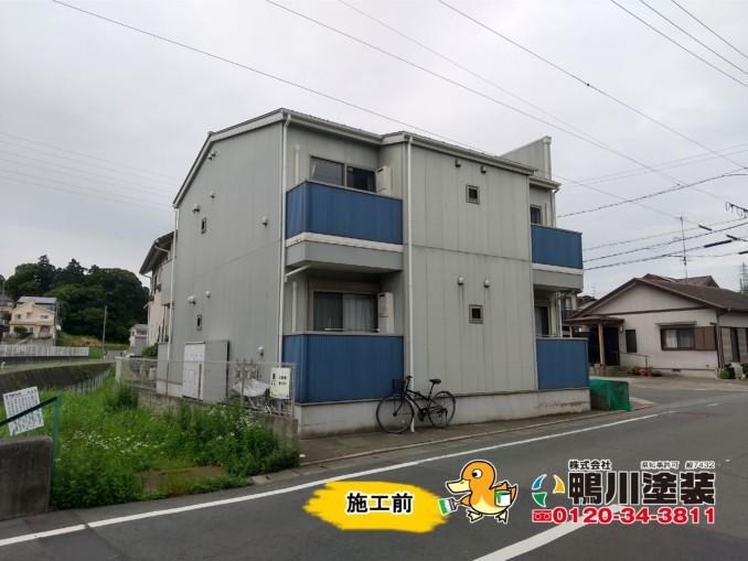 浜松市中区K様(アパート)外壁・屋根塗装工事